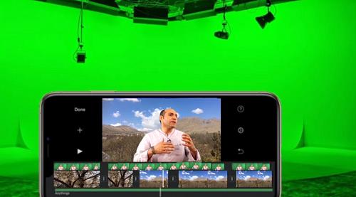 تکنیک پرده سبز با موبایل